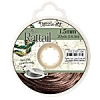 Rattail Cord 1.5mm 20 Yds With Re-useable Bobbin Espresso
